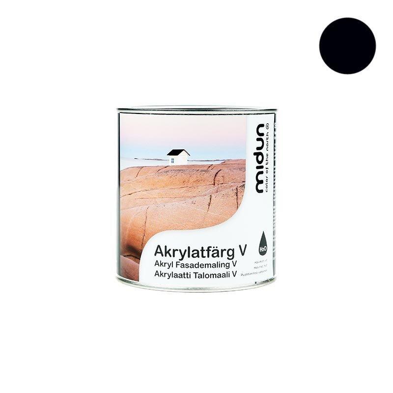 Akrylaatti Talomaali V Musta