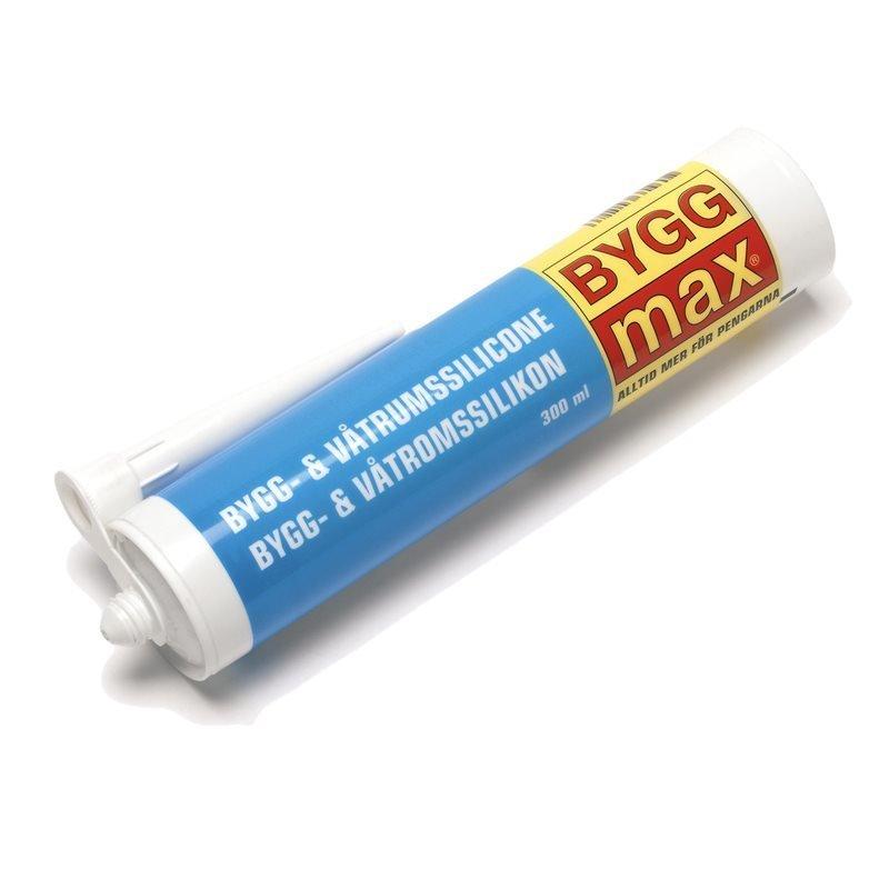BYGGmax Rakenne- ja kosteantilansilikoni Valkoinen