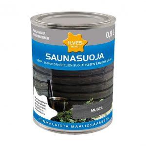 Ilves Saunasuoja väritön Musta