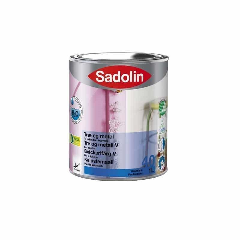 Kalustemaali Sadolin 40 1L Valkoinen puolikiiltävä