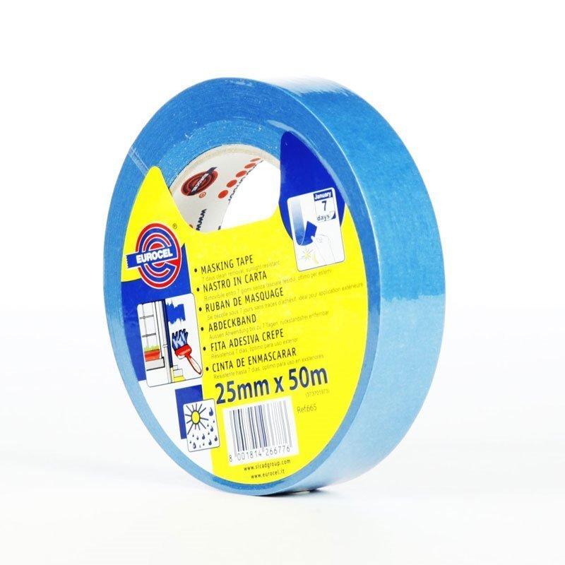 Maalarinteippi Sininen 25mm x 50m