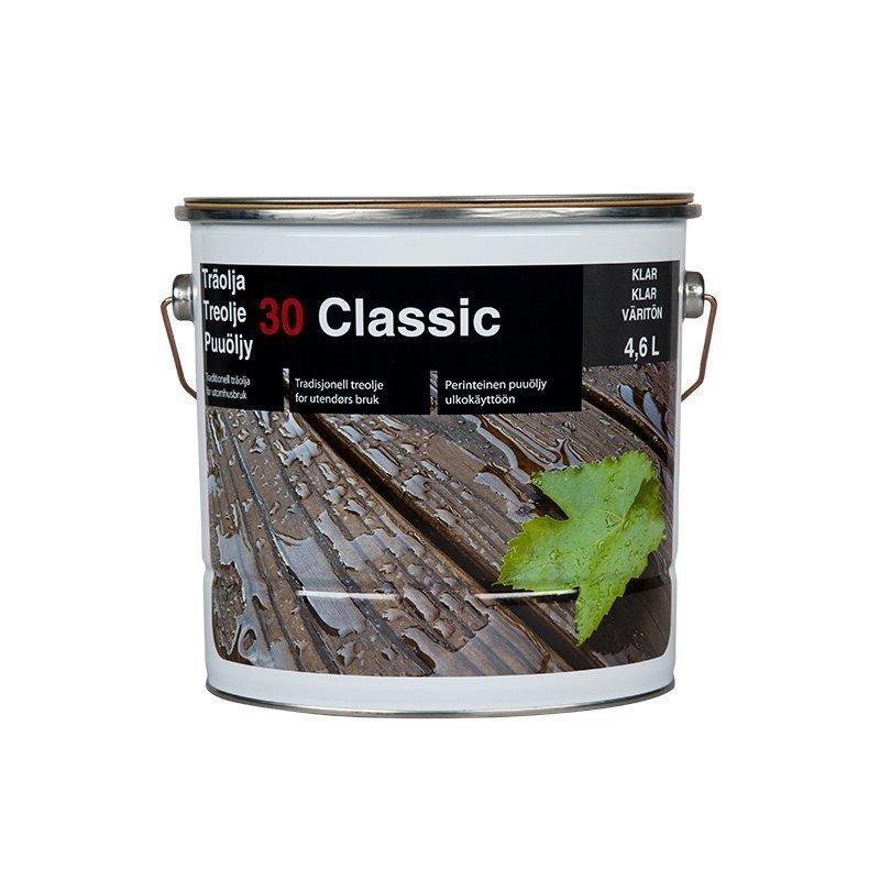 Puuöljy 30 Classic 4.6L Väritön