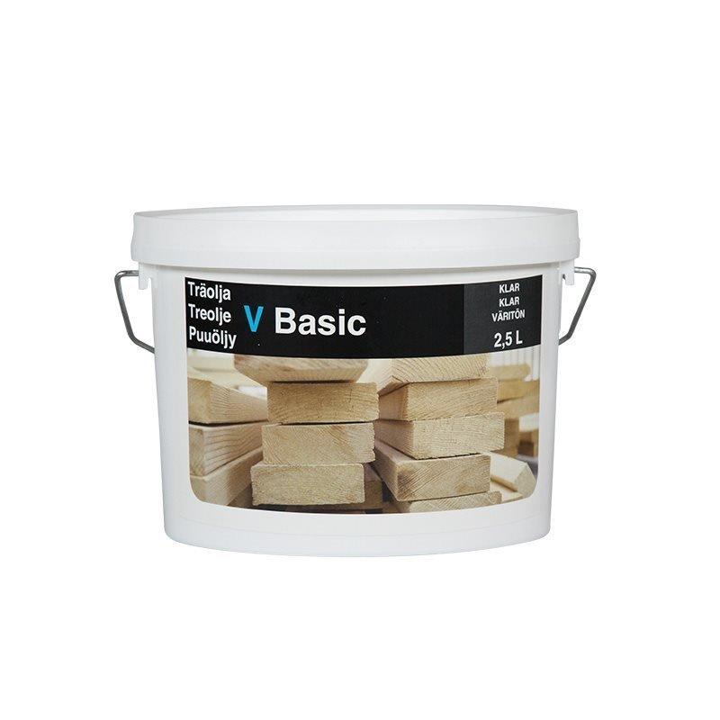 Puuöljy Basic 2.5L Väritön