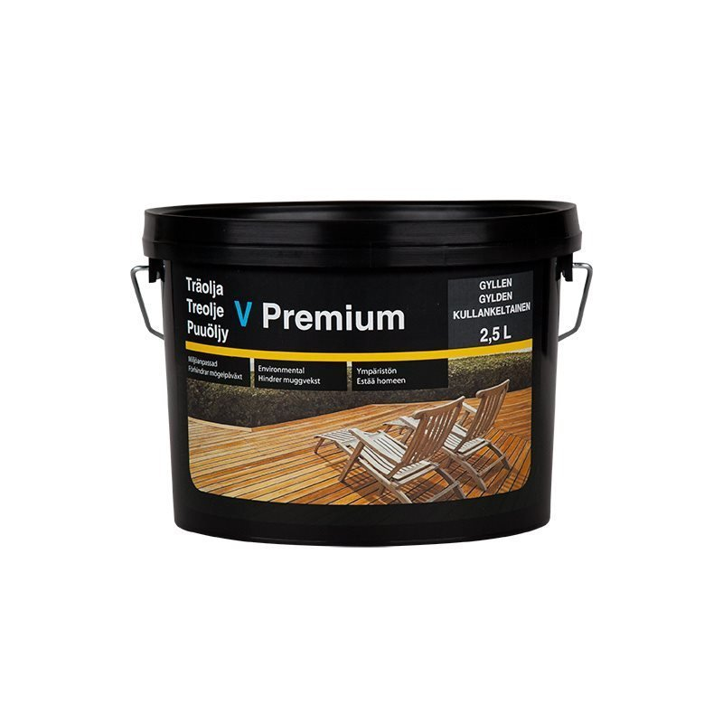 Puuöljy V Premium 2.5L Kullankeltainen