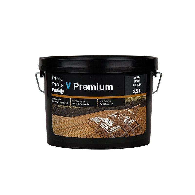 Puuöljy V Premium 2.5L Ruskea
