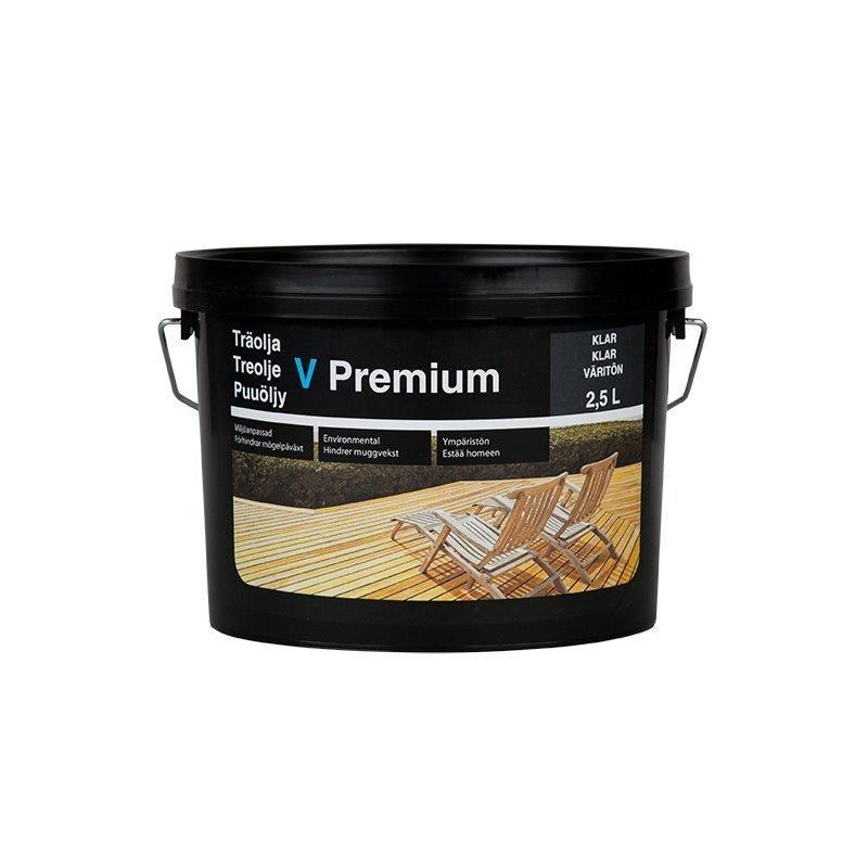 Puuöljy V Premium 2.5L Väritön