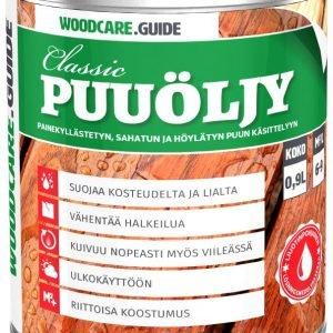 Woodcare.Guide Classic Puuöljy Ruskea