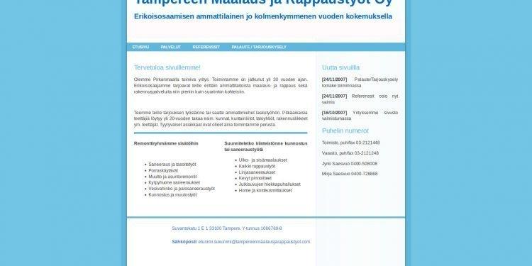 Tampereen Maalaus ja Rappaustyöt Oy